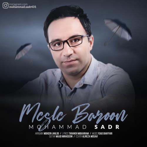 دانلود آهنگ غمگین مثل بارون محمد صدر